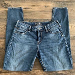 Silver Jeans Suki Straight Midrise Curvy Blue sz29